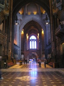 The world's highest Gothic Arch, Liverpool Catehdral