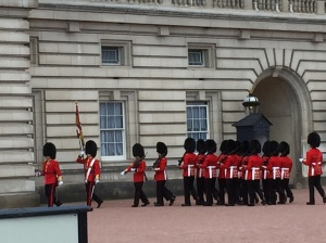 The New Guard marching off to the Guard Room